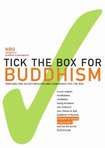 tick the box for Buddhism - poster